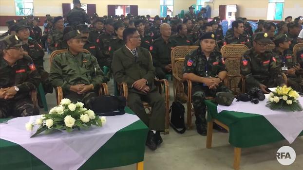ABSDF မြန်မာနိုင်ငံလုံးဆိုင်ရာ ကျောင်းသားများ ဒီမိုကရက်တစ်တပ်ဦး တည်ထောင်ခြင်း နှစ် ၃ဝ ပြည့် အထိမ်းအမှတ်အခမ်းအနားကို တရုတ်-မြန်မာနယ်စပ်က KIO ဌာနချုပ်ရှိရာ လိုင်ဇာမြို့ မနောကွင်းမှာ ၂ဝ၁၈ ခုနှစ် နိုဝင်ဘာလ ၁ ရက်နေ့က ကျင်းပခဲ့စဉ်