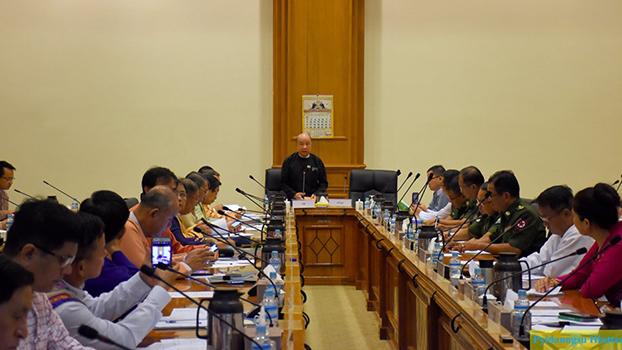 ဖွဲ့စည်းပုံအခြေခံဥပဒေ(၂၀၀၈ ခုနှစ်) ပြင်ဆင်ရေးပူးပေါင်းကော်မတီ အစည်းအဝေးကို ၂၀၁၉ ဇွန် ၁၃ ရက်နေ့ကကျင်းပခဲ့စဉ်