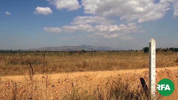 ကယားပြည်နယ် လွိုင်ကော်မြို့နယ်မှာ အမှတ် (၃၅၆) အမြောက်တပ်က တပ်ပိုင်မြေအဖြစ်သိမ်းယူထားတဲ့ လယ်ယာမြေကို တွေ့ရစဉ်