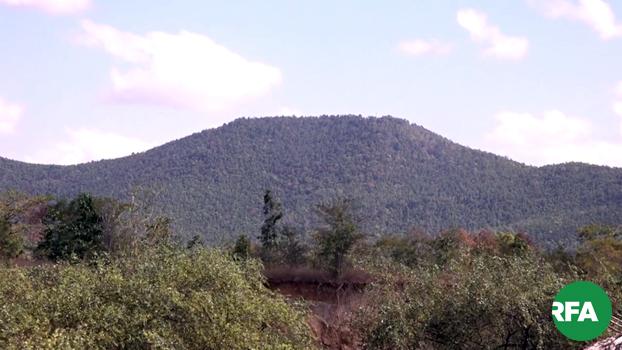 စစ်ကိုင်းတိုင်း၊ ယင်းမာပင်မြို့နယ်က ဝါးစိမ်းတောင်ဒေသကို တွေ့ရစဉ်