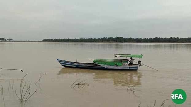 ပစ်ခတ်မှုဖြစ်ပွားခဲ့တဲ့ ကုလားတန်မြစ်ကြောင်းက နေရာတစ်ခုကို တွေ့ရစဉ်
