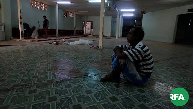 ဒဂုံမြို့သစ်တောင်ပိုင်းမြို့နယ် ၁၀၆ ရပ်ကွက်က ပိတ်ထားတဲ့  အစ္စလာမ်ဝတ်ပြုဆောင်အတွင်းကို ၂၀၁၉ မေ ၁၆ ရက်နေ့ကတွေ့ရစဉ်