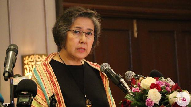 ကုလသမဂ္ဂရဲ့ မြန်မာနိုင်ငံဆိုင်ရာ လူ့အခွင့်အရေး အထူးကိုယ်စားလှယ် Yanghee Lee ကို တွေ့ရစဉ်