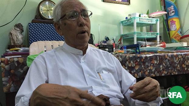 NLD ပါတီ ကုိယ္စားလွယ္ ဦးေအာင္သိန္း ကို ၂၀၁၉ ဇူလိုင္ ၁၈ ရက္ေန႔ကေတြ႕ရစဥ္