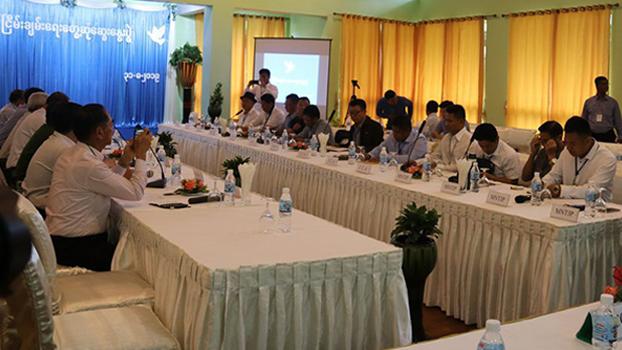 မြောက်ပိုင်းလေးဖွဲ့နဲ့ ငြိမ်းချမ်းရေးကော်မရှင်တို့ ၂ဝ၁၉ သြဂုတ် ၃၁ ရက်နေ့က ရှမ်းပြည်နယ် ကျိုင်းတုံမြို့မှာ တွေ့ဆုံစဉ်