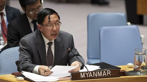 ကုလသမဂ္ဂဆိုင်ရာ မြန်မာအမြဲတမ်းကိုယ်စားလှယ် သံအမတ်ကြီး ဦးဟောက်ဒိုဆွမ်း။