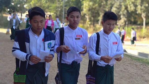 မကွေးပညာရေးကောလိပ် ကျောင်းသားများသမဂ္ဂက ၂၀၂၀ ဇန်နဝါရီလ ၇ ရက်နေ့က မကွေးပညာရေးကောလိပ်မှာ  စတစ်ကာကမ်ပိန်း ပြုလုပ်