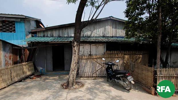 ပိတ်ထားတဲ့ ဒဂုံမြို့သစ်တောင်ပိုင်းမြို့နယ် ၁၀၆ ရပ်ကွက်က အစ္စလာမ်ဝတ်ပြုဆောင်ကို ၂၀၁၉ မေ ၁၆ ရက်နေ့ကတွေ့ရစဉ်