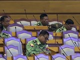 ၂၀၂၀၊ ဇန်နဝါရီ ၂၇ ရက်နေ့ ကျင်းပတဲ့ ပြည်ထောင်စုလွှတ်တော်အစည်းအဝေးတက်ရောက်တဲ့ တပ်မတော်သားလွှတ်တော်ကိုယ်စားလှယ်အချို့ကို တွေ့ရစဥ်