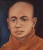 မြန်မာ့လွတ်လပ်ရေးအတွက် အဖိနှိပ်ခံ ကျွန်ဘဝမှ လွတ်မြောက်ရေး အကြမ်းမဖက်ပဲ တိုက်ပွဲဝင်ရင်း ပျံလွန်တော်မူသွားသည့် ဆရာတော် ဦးဥတ္တမ ပုံတူဖြစ်ပါသည်။