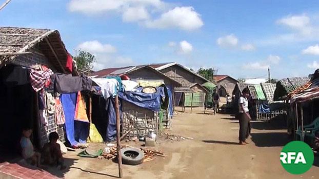 ရခိုင်ပြည်နယ်၊ စစ်တွေမြို့က မွတ်စလင် ဒုက္ခသည်စခန်းတစ်ခုကို တွေ့ရစဉ်