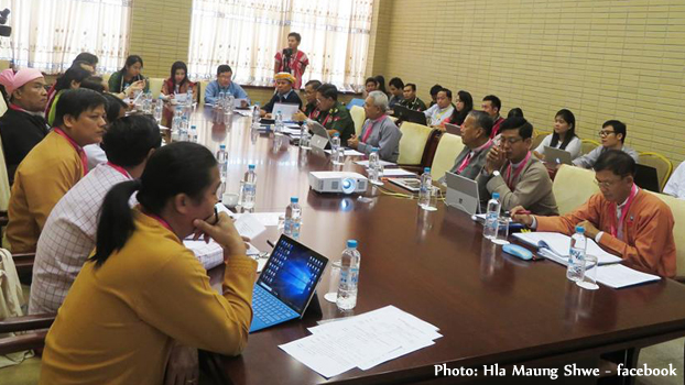UPDJC အတွင်းရေးမှူးများ အစည်းအဝေးကို ၂၀၁၈၊ ဇူလိုင် ၁၅ ရက်နေ့က နေပြည်တော်မှာ ကျင်းပစဉ်