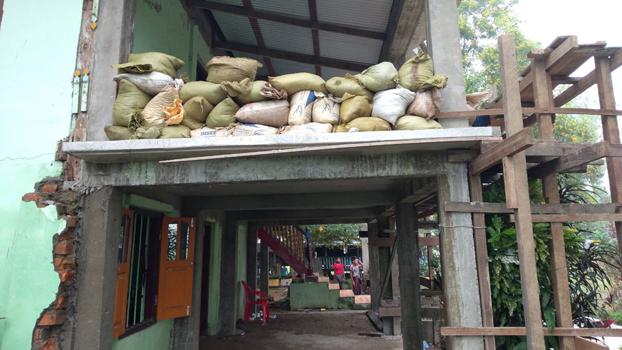 ရသေ့တောင်မြို့နယ် ပြိန်းတောကုန်းတန်း(ခေါ်)ရက်ခုန်းတိုင်ကျေးရွာက တပ်မတော်စစ်ကြောင်း အကာအကွယ်ယူခဲ့တဲ့ ဘုန်းတော်ကြီးကျောင်းကို တွေ့ရစဉ်