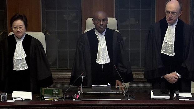 ICJ ကုလသမဂ္ဂတရားရုံးက ခုံရုံးလူကြီးများ။
