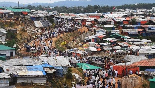 ဘင်္ဂလားဒေ့ရှ်နိုင်ငံက ရိုဟင်ဂျာ ဒုက္ခသည်စခန်း။