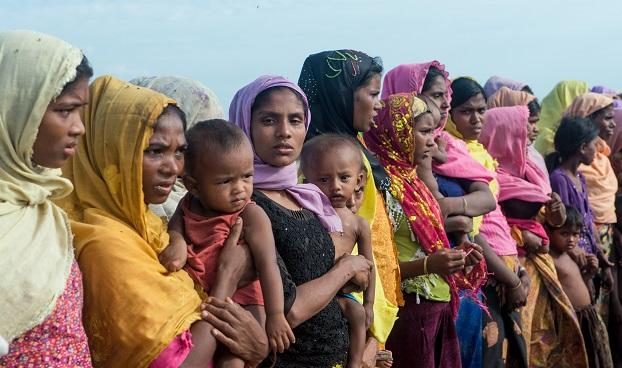 ရိုဟင်ဂျာအမျိုးသမီး ဒုက္ခသည်များ။