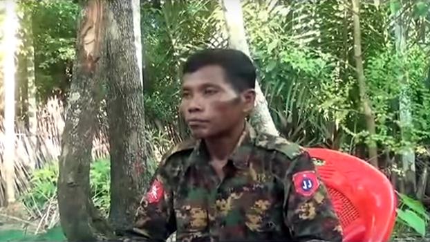 ရက္ခိုင့်တပ်တော်(AA)ထံ လာရောက်ပူးပေါင်းခဲ့တဲ့ မြန်မာ့တပ်မတော်က တပ်ကြပ် အောင်နိုင် ကို တွေ့ရစဉ်