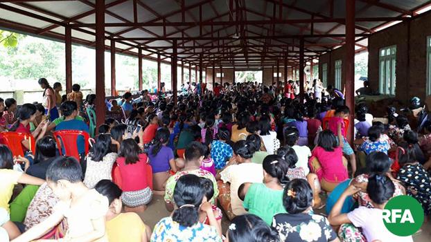 ရခိုင်ပြည်နယ် ပုဏ္ဏားကျွန်းမြို့နယ် ပိုးရှီပြင်ကျေးရွာကိုရောက်ရှိနေတဲ့ စစ်ဘေးဒုက္ခသည်တွေကို ၂၀၁၉၊ ဇွန် ၃၀ ရက်နေ့က တွေ့ရစဉ်