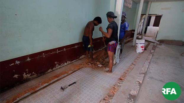 ဒဂုံမြို့သစ်တောင်ပိုင်းမြို့နယ် ၁၀၆ ရပ်ကွက်က ပိတ်ထားတဲ့ အစ္စလာမ်ဝတ်ပြုဆောင်အတွင်းက ခြေလက်ဆေးတဲ့နေရာကို ၂၀၁၉ မေ ၁၆ ရက်နေ့က ဖျက်ပေးနေစဉ်