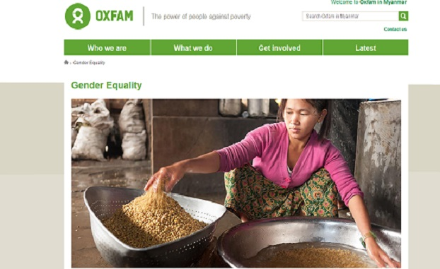 Oxfam အဖြဲ႔ရဲ့ ထုတ္ျပန္ခ်က္။