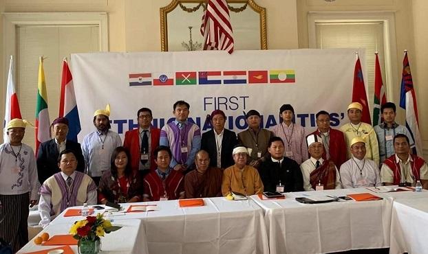 ဝါရွင္တန္ဒီစီျမိဳ႕မွာ ဖြဲ႔စည္းလိုက္တဲ့ အမ်ိဳးသား မဟာမိတ္အဖြဲ႔ Nationalities Alliance(Burma) အဖြဲ႔ဝင္မ်ား။